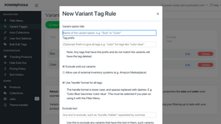 Create new rules quickly and easily