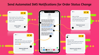 SMS marketing and SMS notifications for order shipment tracking