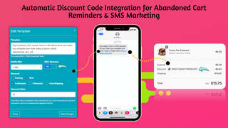 Automatic discounts in cart recovery sms