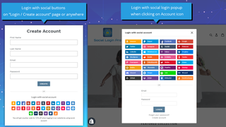 Support 2 types of social login button