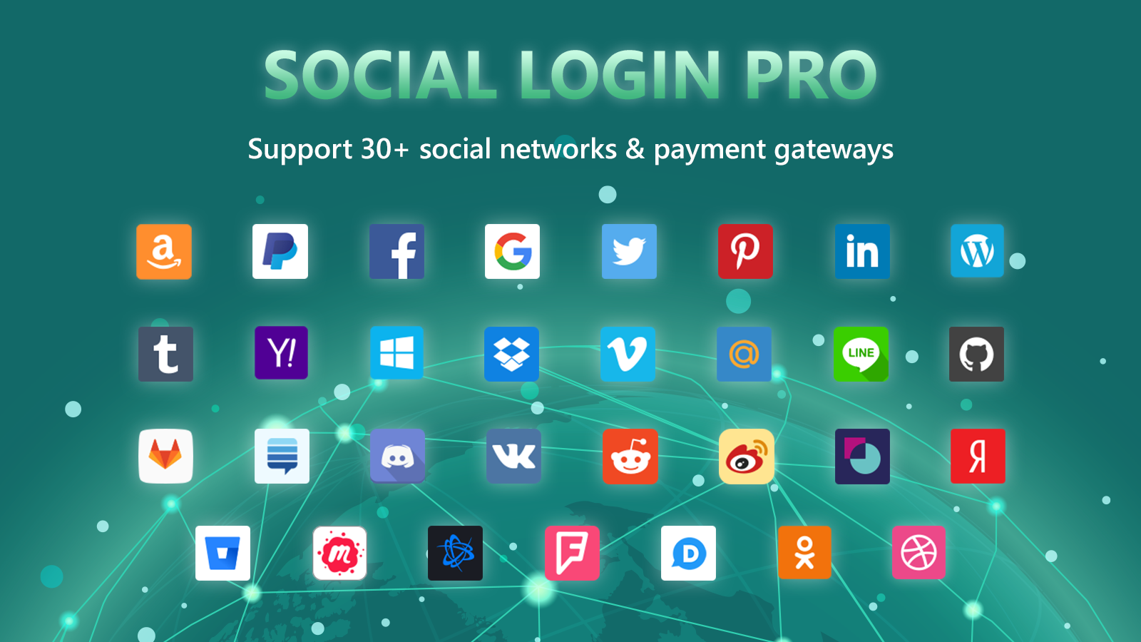 Support 30+ social networks