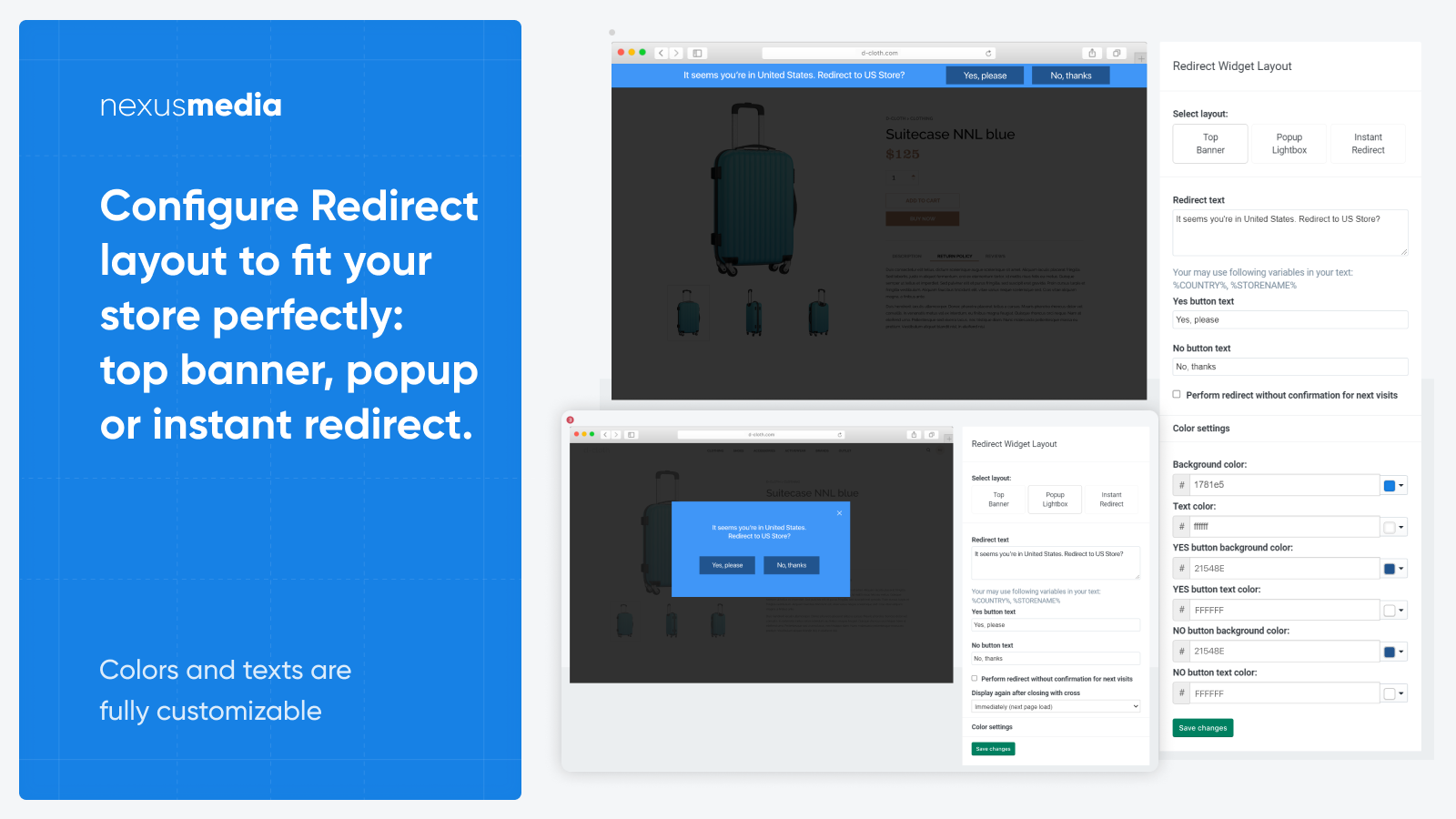 Customize redirect layout to fit your needs
