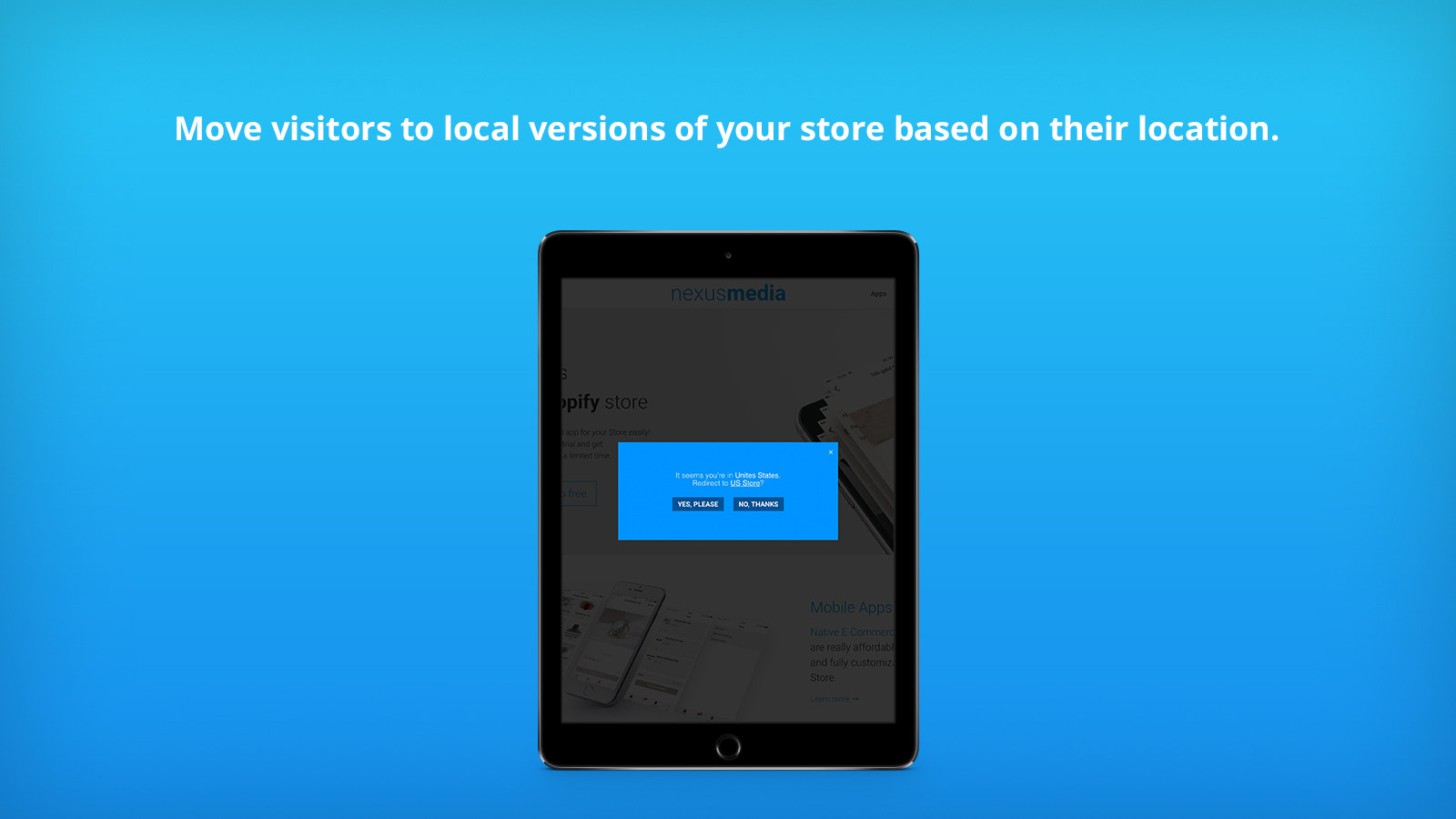 Redirect visitors to local versions based on their location