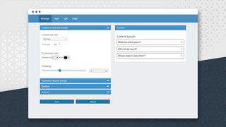 Manage your look and feel from manage page