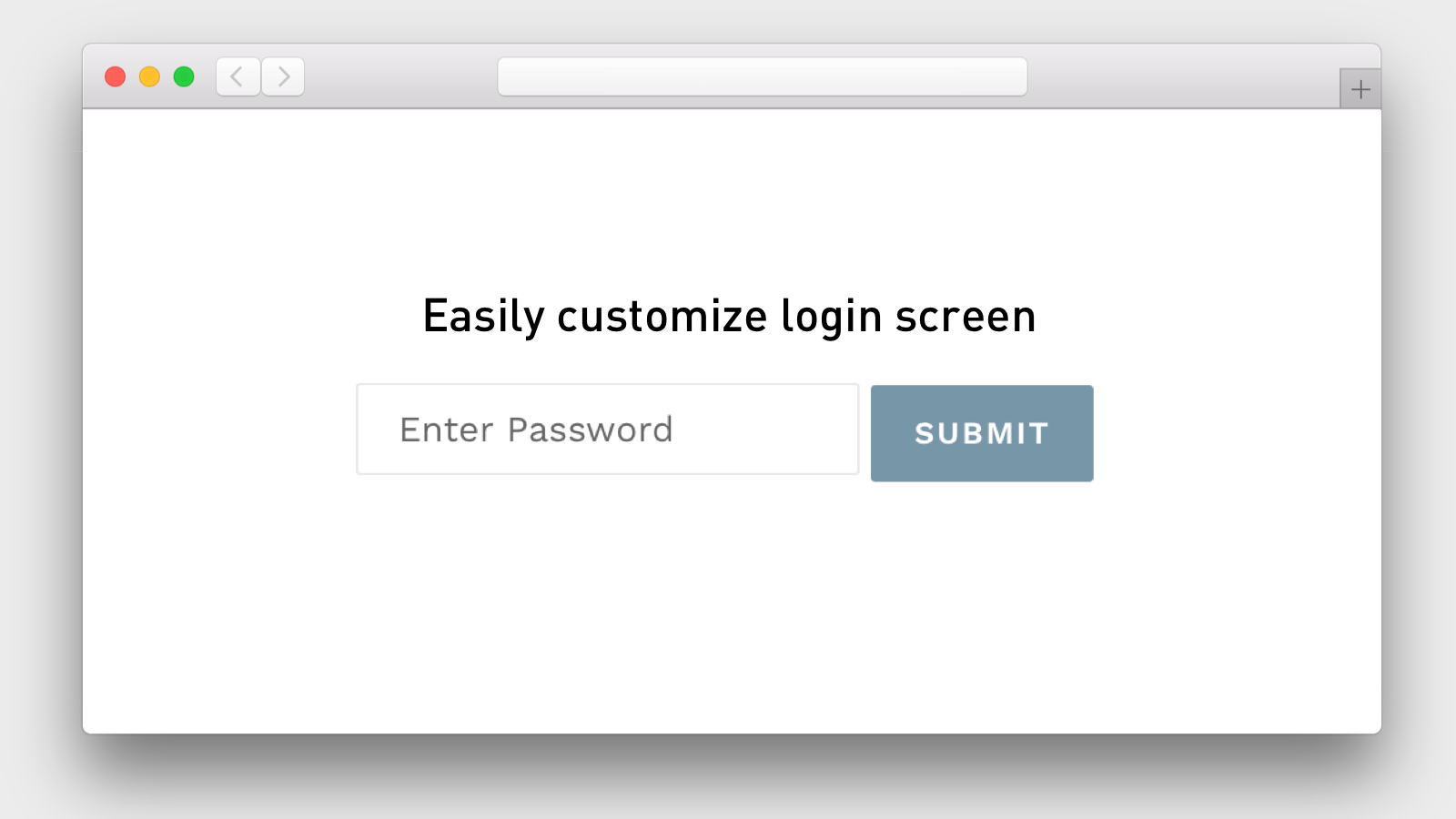 Simple password protection