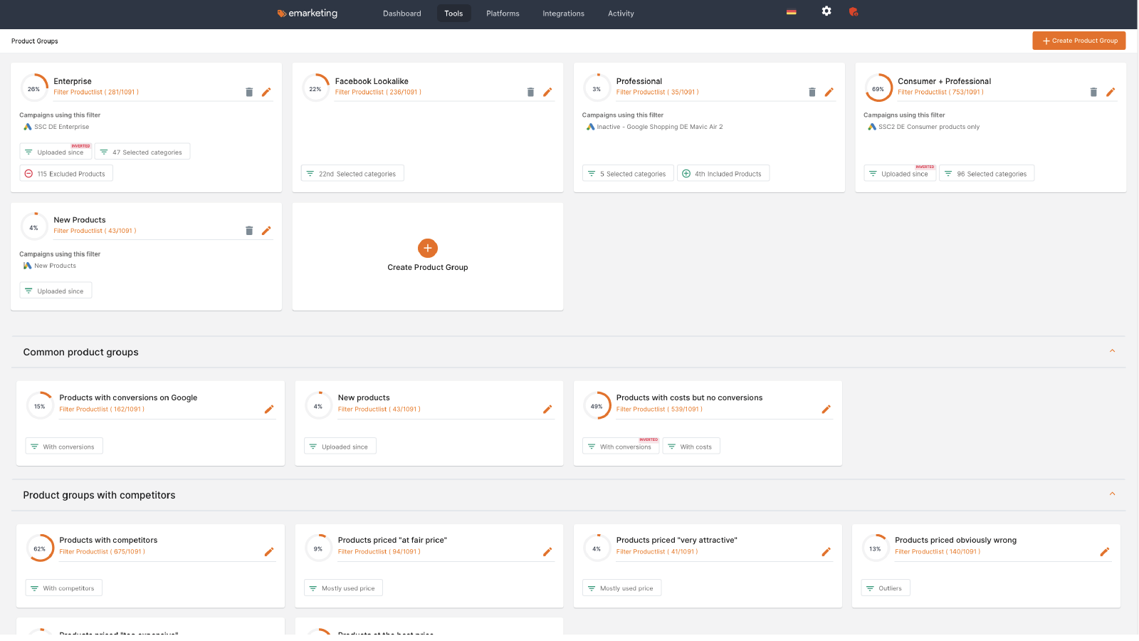 Smart Product Groups for shopify