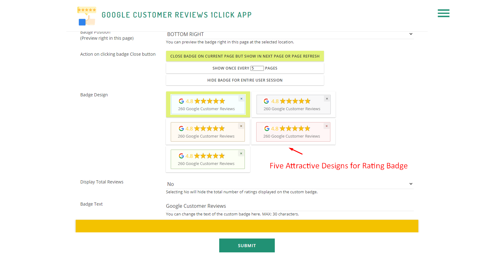 Five Attractive Designs For The Rating Badge