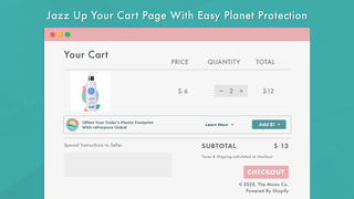 Jazz up your cart page with easy planet protection