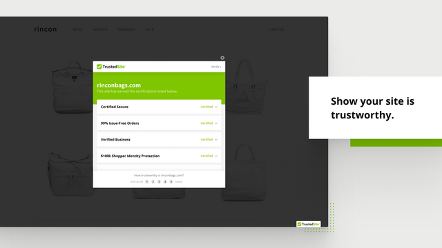 Show your site is trustworthy.