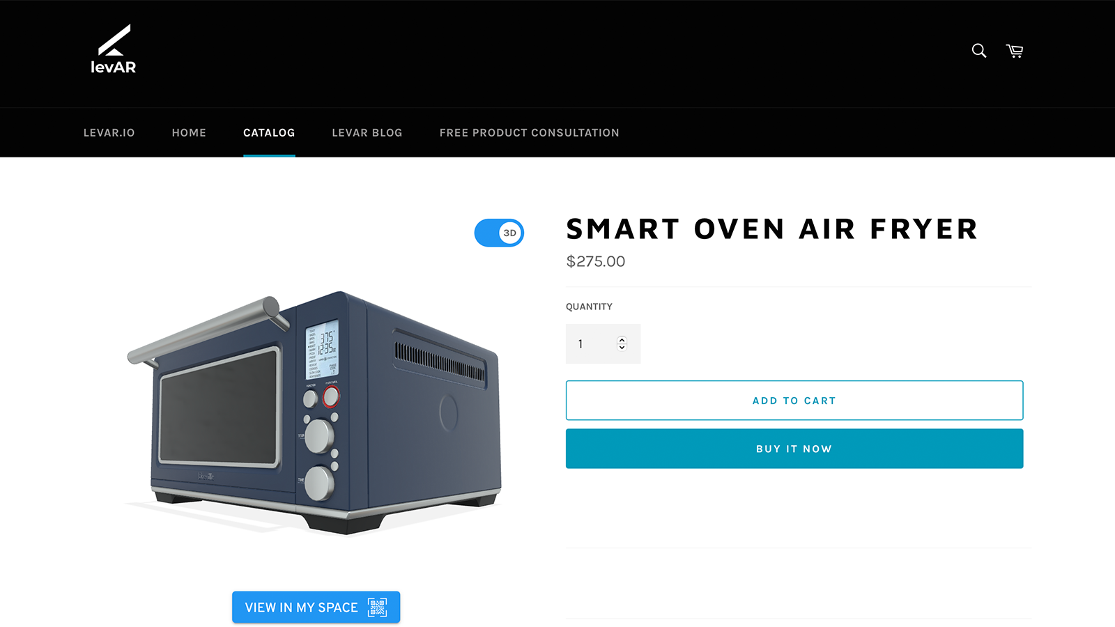 Let customers activate the 3D model from your product page