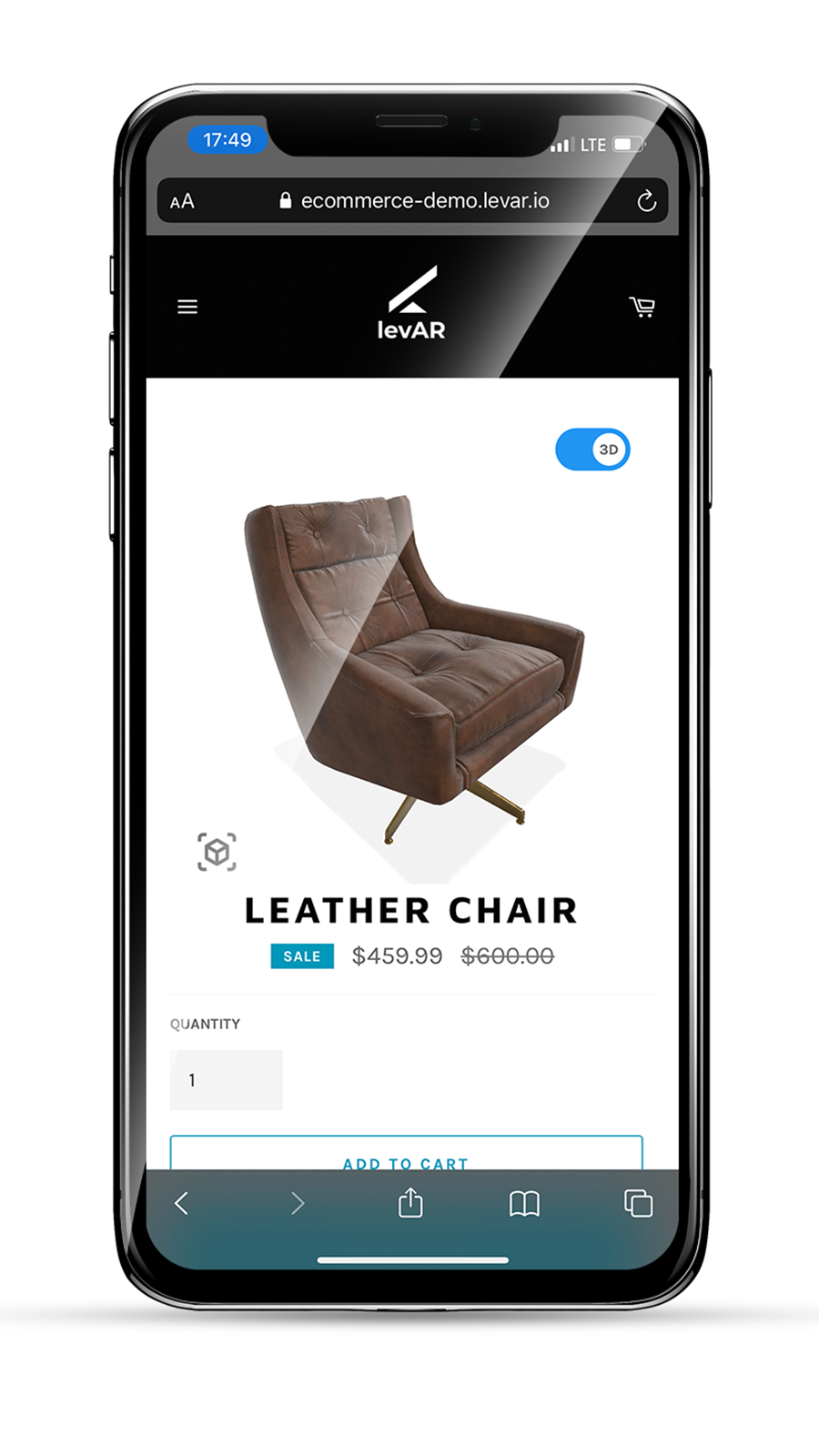 Let customers trigger AR right from a product page on mobile.