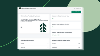 Easily track performance & tree planting to share with customers