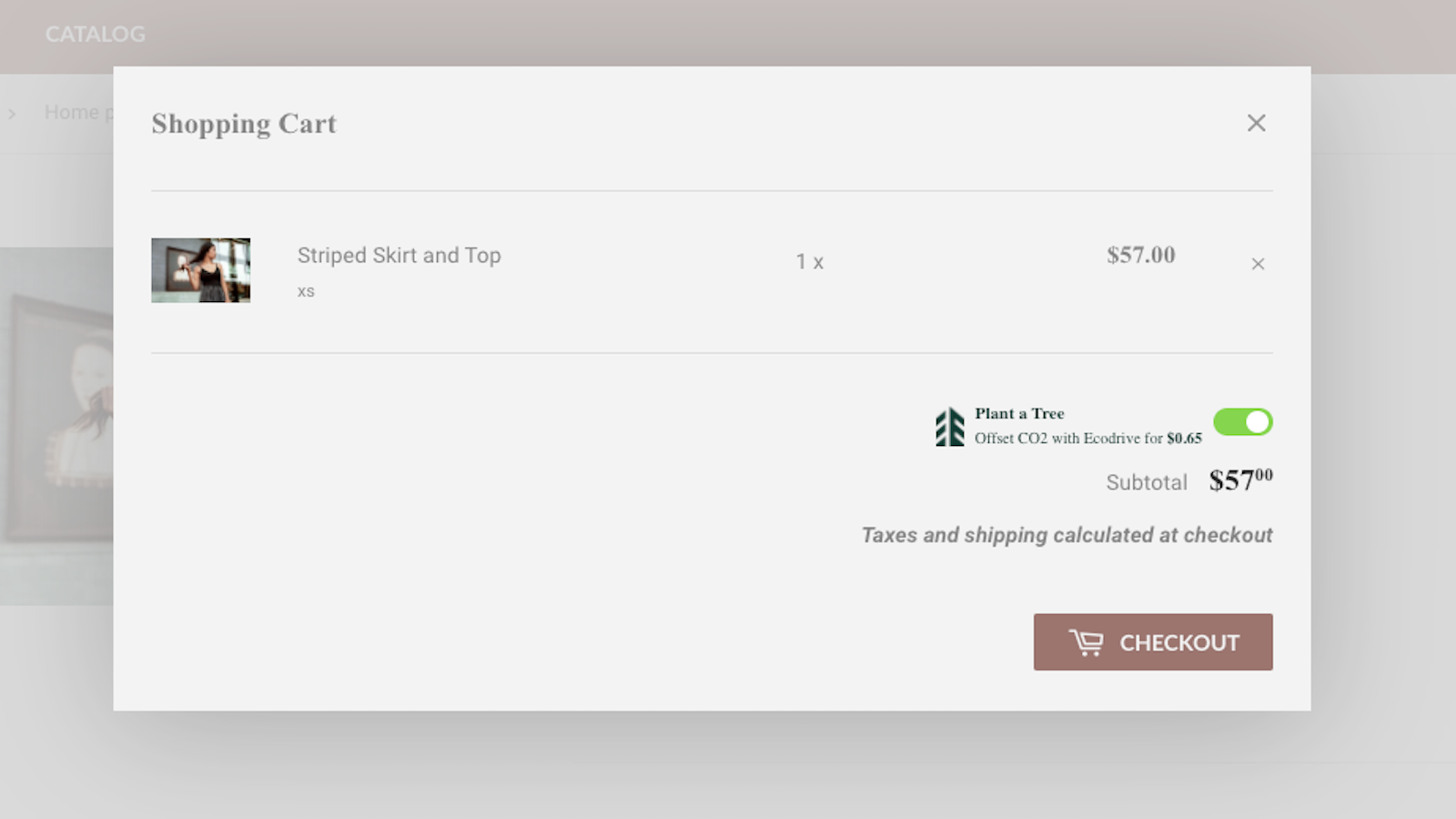 Seamlessly add a tree to your customer's cart with a toggle