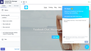 Facebook Chat, Messenger and Exit intent