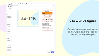 customize products with your own artwork