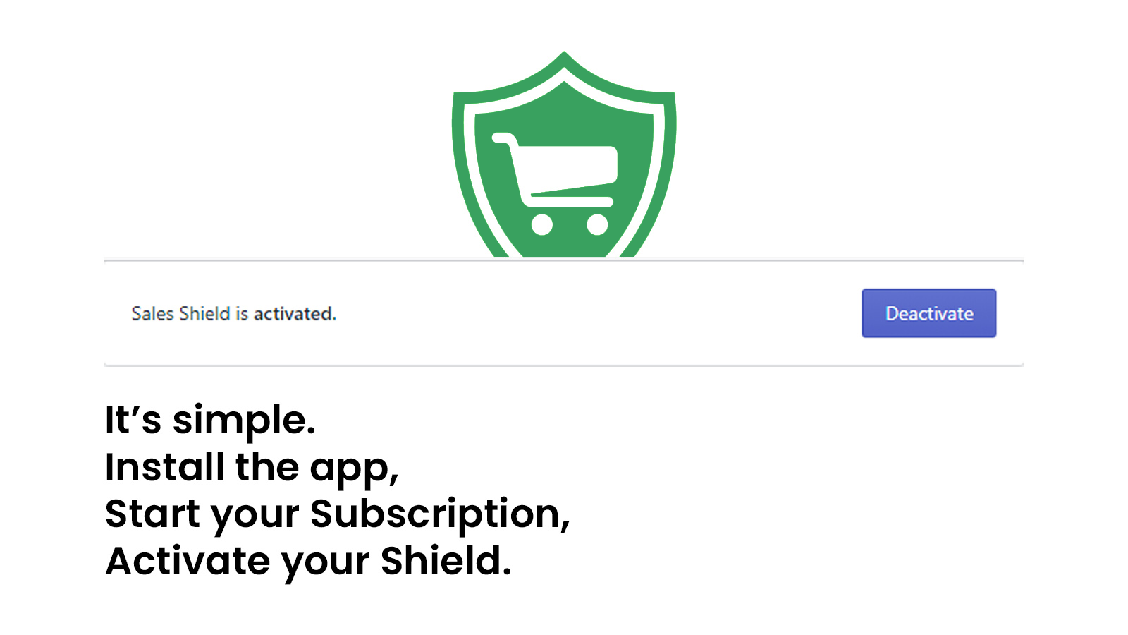 Install the app, Start your Subscription, Activate your Shield.