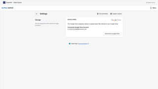 Export reports directly to their Google Drive