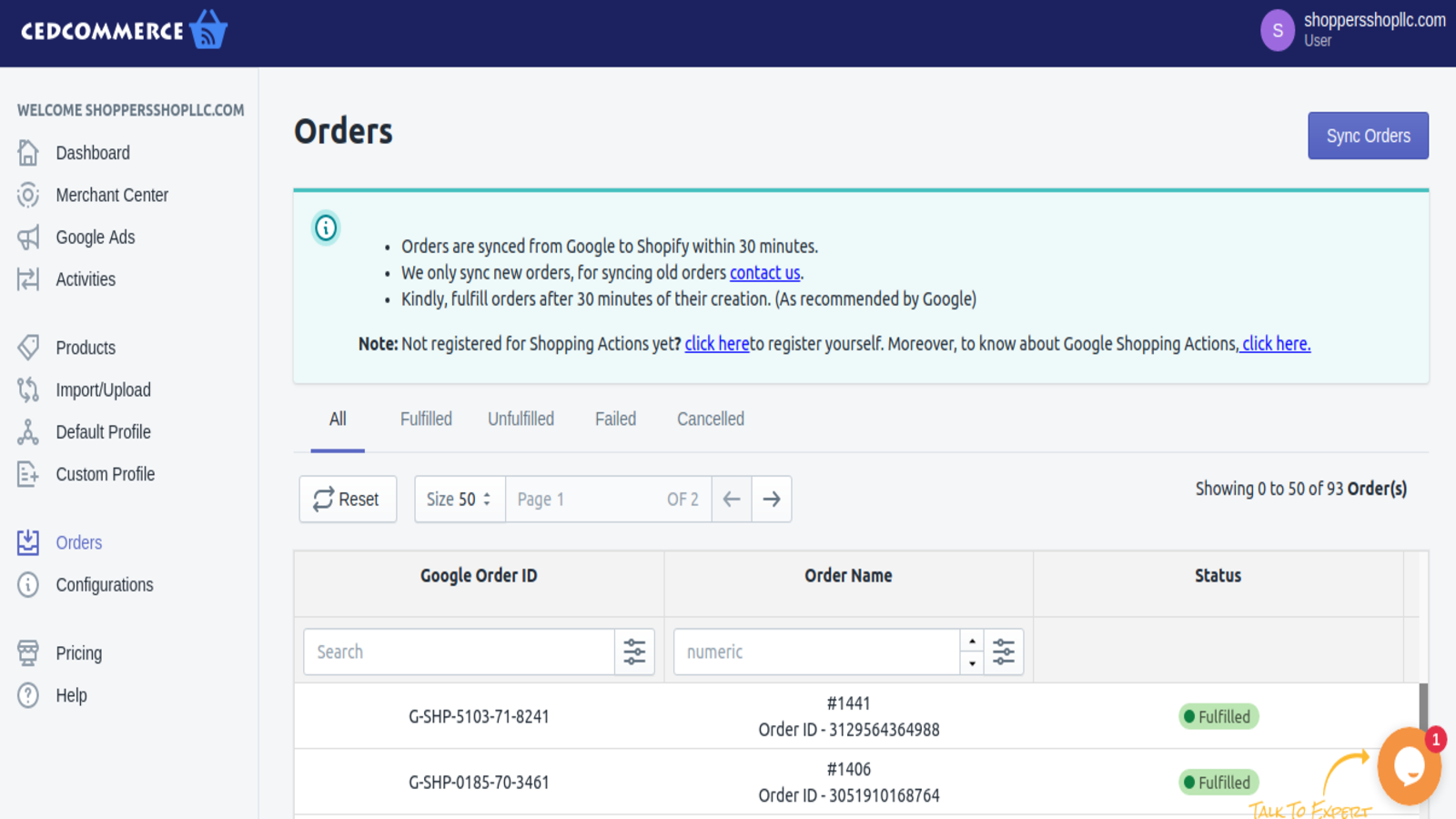 Orders, Sell on Google Shopping, Shopping Engine, Shopping feed