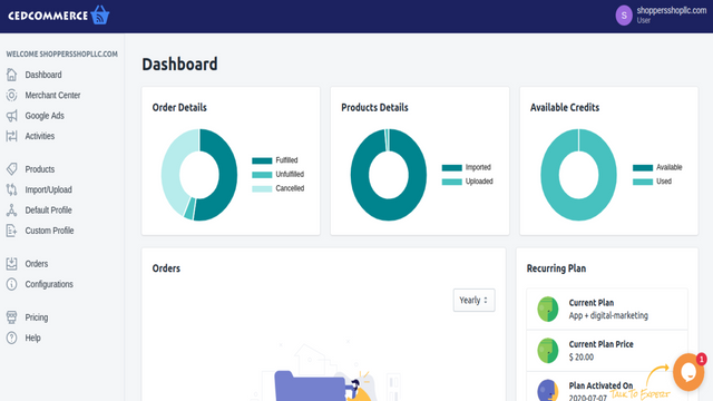 Dashboard, sell on Google Shopping feed and Shopping Engine,