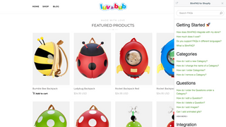 Integrate your FAQ as a sidebar in your store