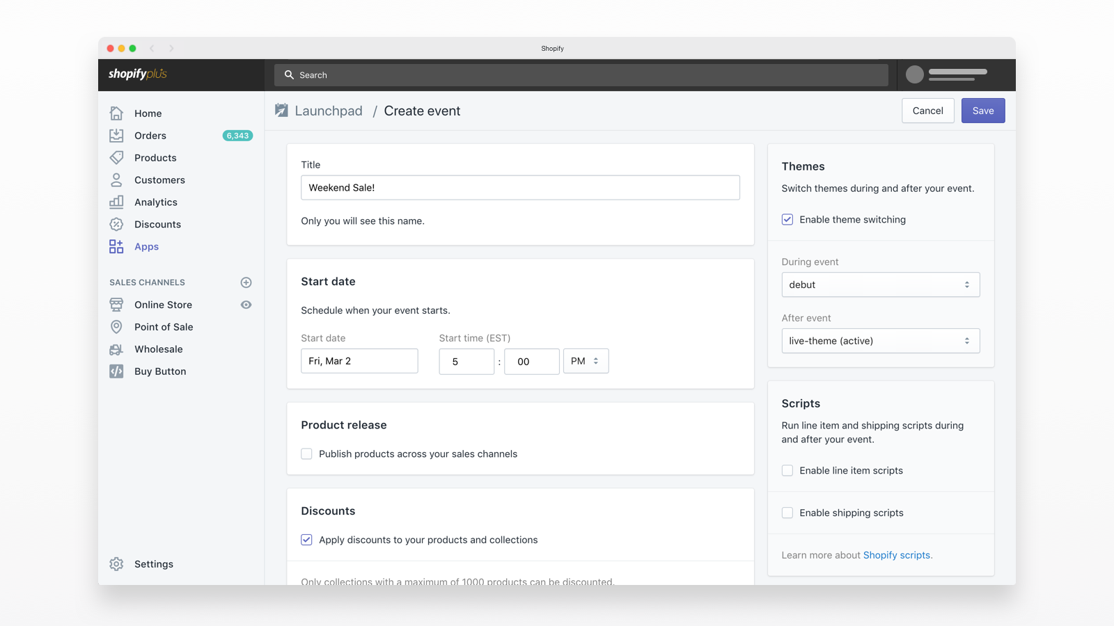 Automate your event checklist while executing a store event.