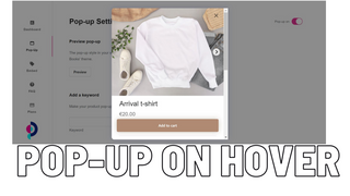 pop-up on hover