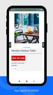 fast sell app layout (mobile / tablets)