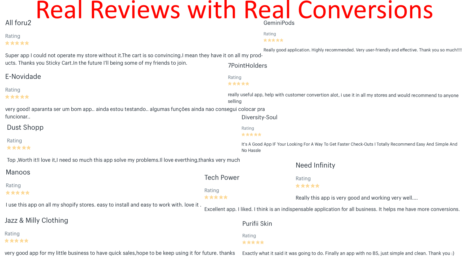 Real Reviews with Real Conversions