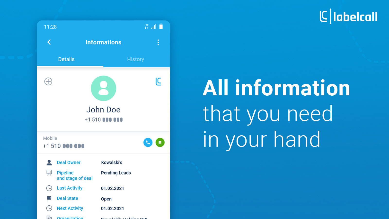 All information in your hand