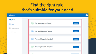 Find the right rule for Facebook, Twitter, Pinterest