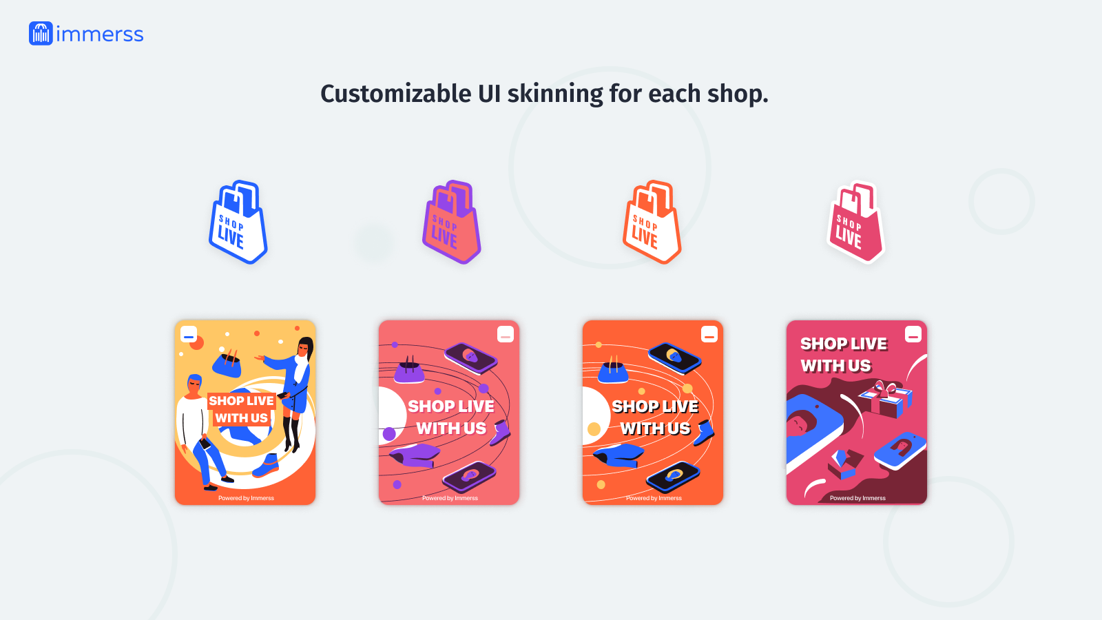 Customizable UI skinning for each shop