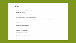 Zooomy FAQ Front end