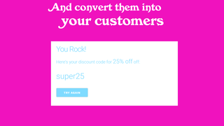 Boost sales with discounts