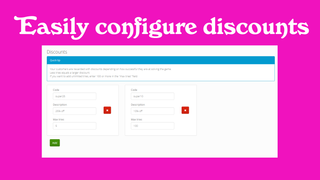 Easily add or change discount codes