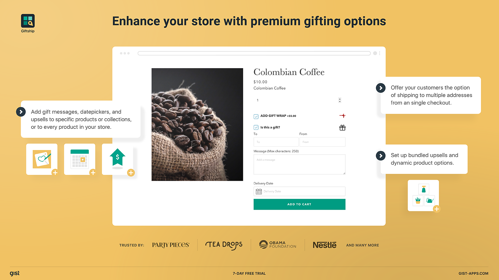 Enhance your Shopify store with premium gifting tools.