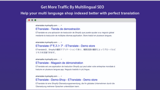 help your page indexed by multilingual seo