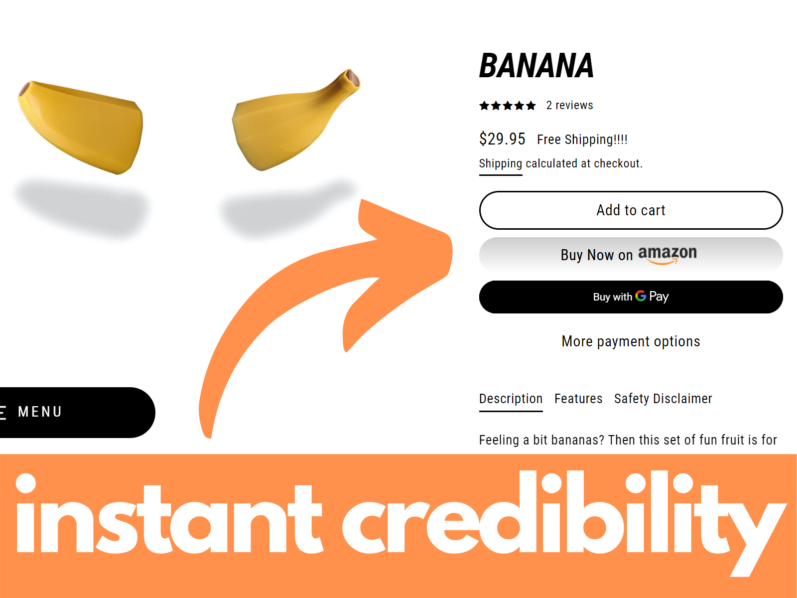 instant CREDIBILITY with buyer