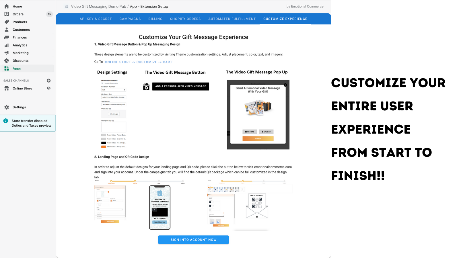Customize the gifting experience to best fit your store needs!