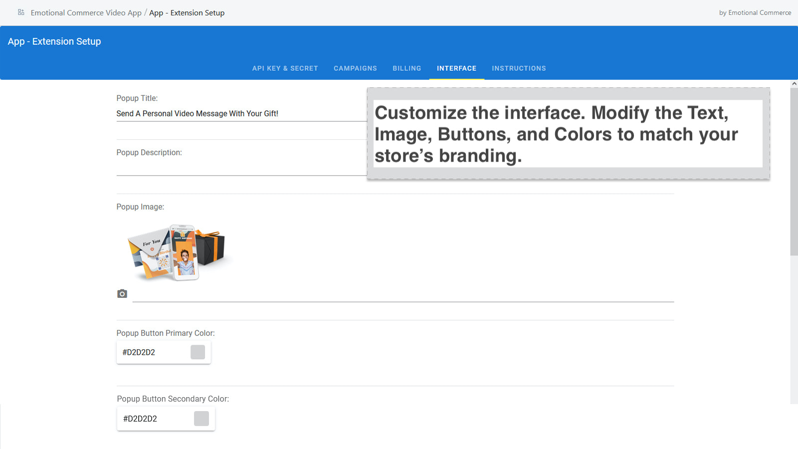 EC - Page Customizer - Change colors and text