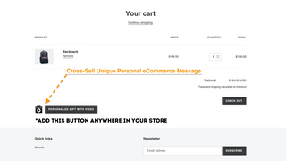 Cross sell video messaging with every order!