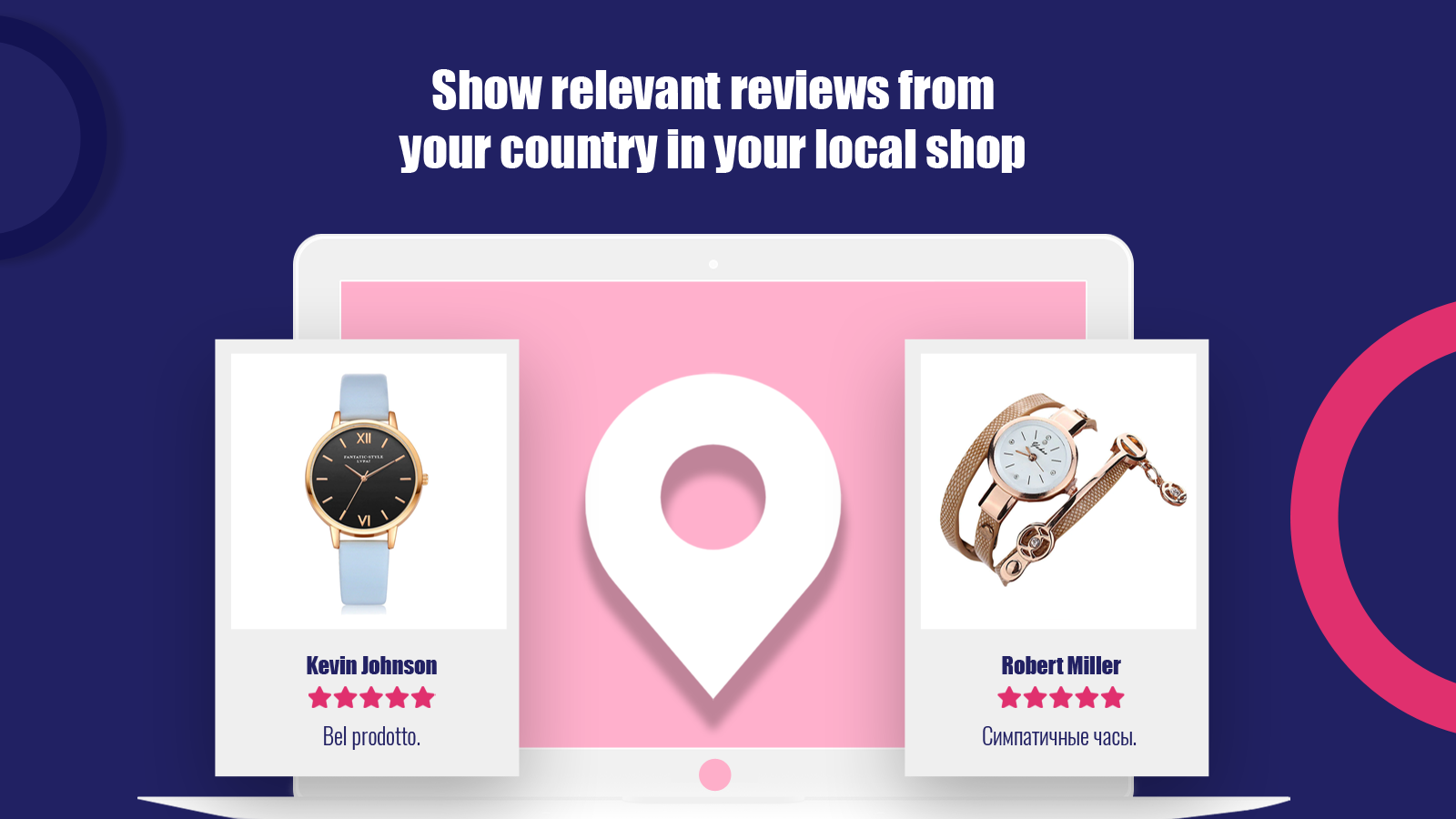 Show relevant reviews from your country in your local shop