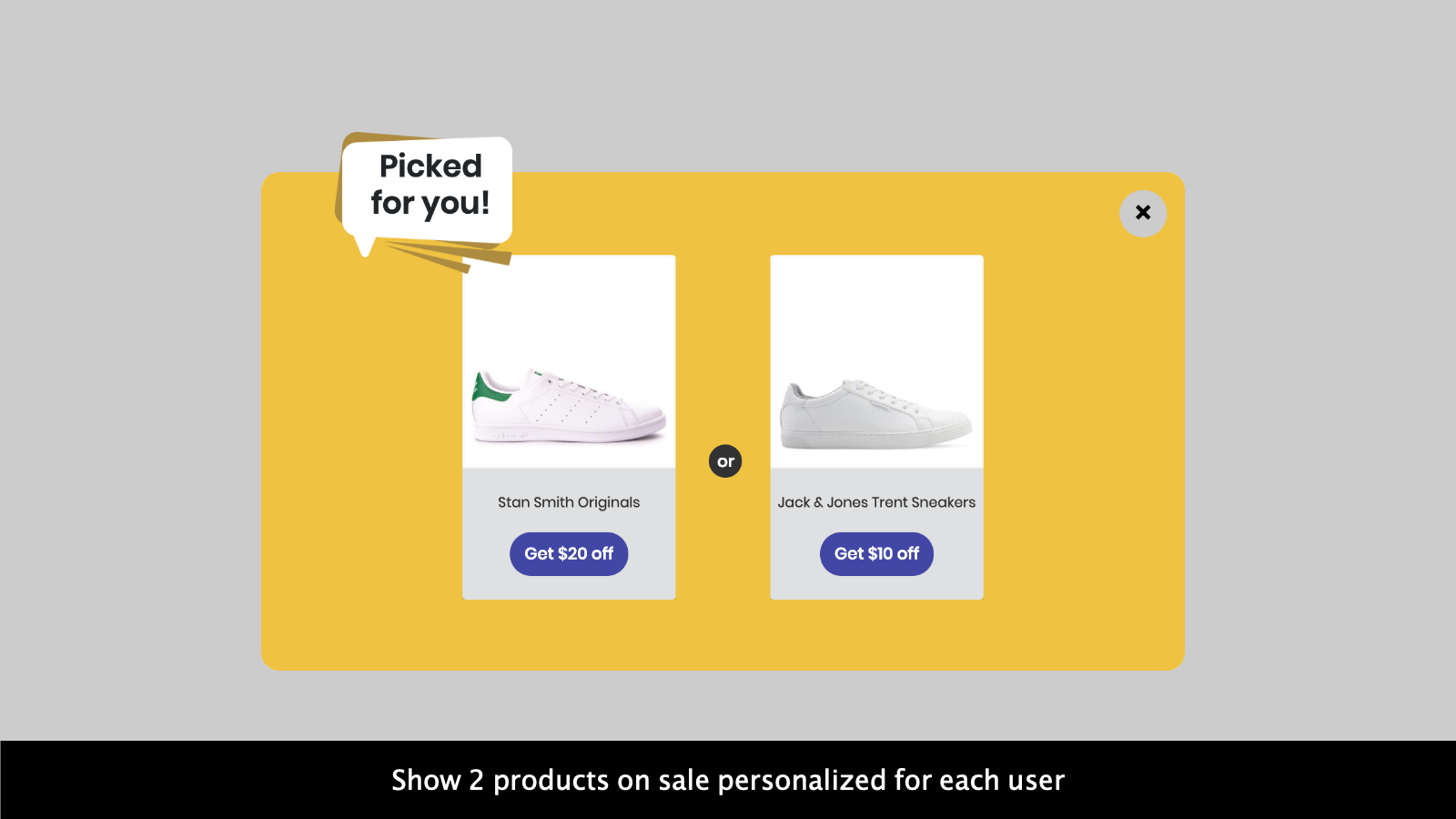 Show personalized products