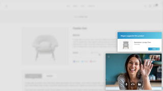 Seamless shopper's experience on video across product pages
