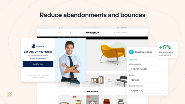 Increase sales by offering discounts and retain more from bounce