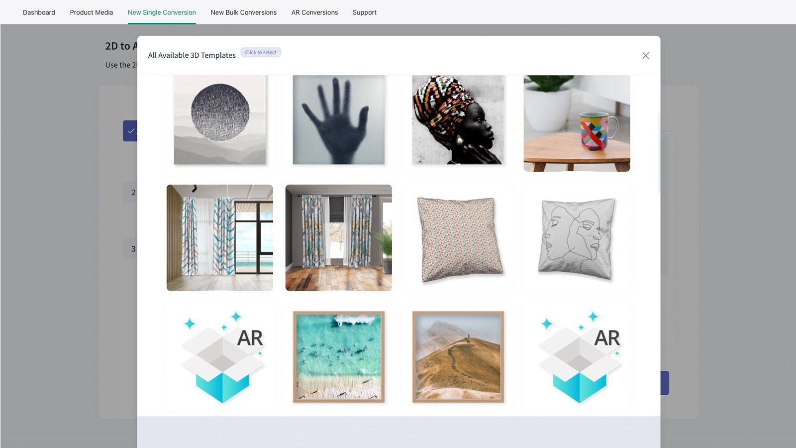 Select one of our free 3D Product Templates or design your own