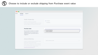 Choose to include or exclude shipping from Purchase event value