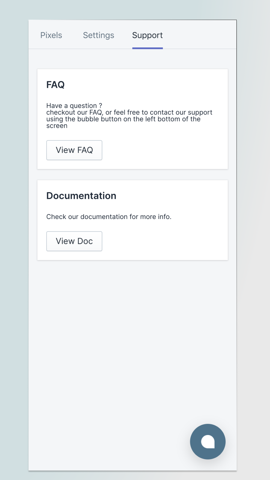 Easy access to documenation and support