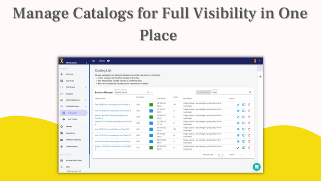 Manage Facebook catalogs for full visibility in one place