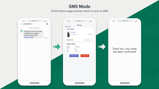 mobile view of order detail page, link to verify order on SMS