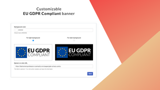 Shopify GDPR compliant banner – dark and light color schemes
